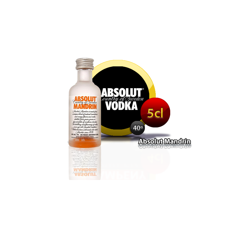 Vodka Absolut Mandrin 5cl Inicio