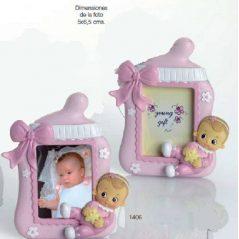 Portafoto Bebé Niña Rosa Diadema