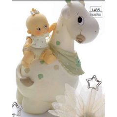 Hucha Bebé Niña sobre Jirafa Figuras para Tartas de Bautizo6,40 €