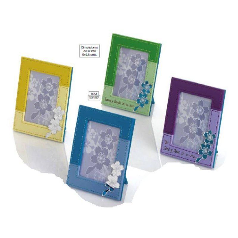 Portafotos Piel Bicolor Flor Inicio2,58 €