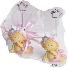Sujeta-Tarjetas Bebé Niña Sonriendo