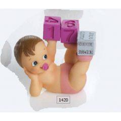 Bebé Rosa Calendario Perpetuo Detalles de Bautizo Baratos3,20 €