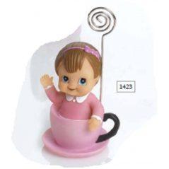 Sujeta-Tarjetas Bebe Niña Taza Rosa Inicio1,95 €