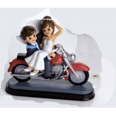 Pareja de Novios Motocicleta