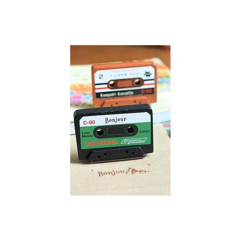 Sello Cassette ScrapBooking Inicio