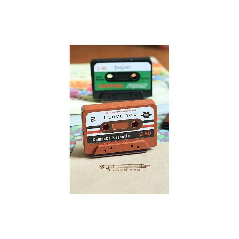 """Sello Cassette """"I Love You"""" ScrapBooking Inicio"""