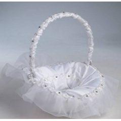 Cesta Arras Blanca Flores Diamantes Inicio