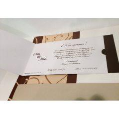 Invitación Ramas Ocre y Dorado