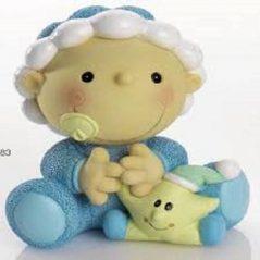 Hucha Bebé Gracioso Gorrito Celeste