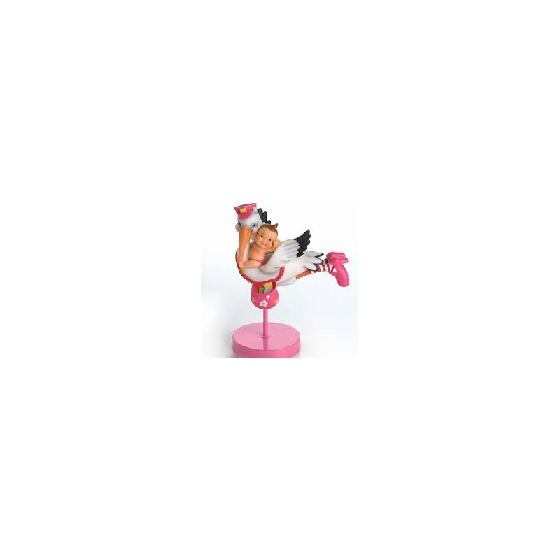 Cigüeña Bebe Rosa Volando Figuras para Tartas de Bautizo9,80 €