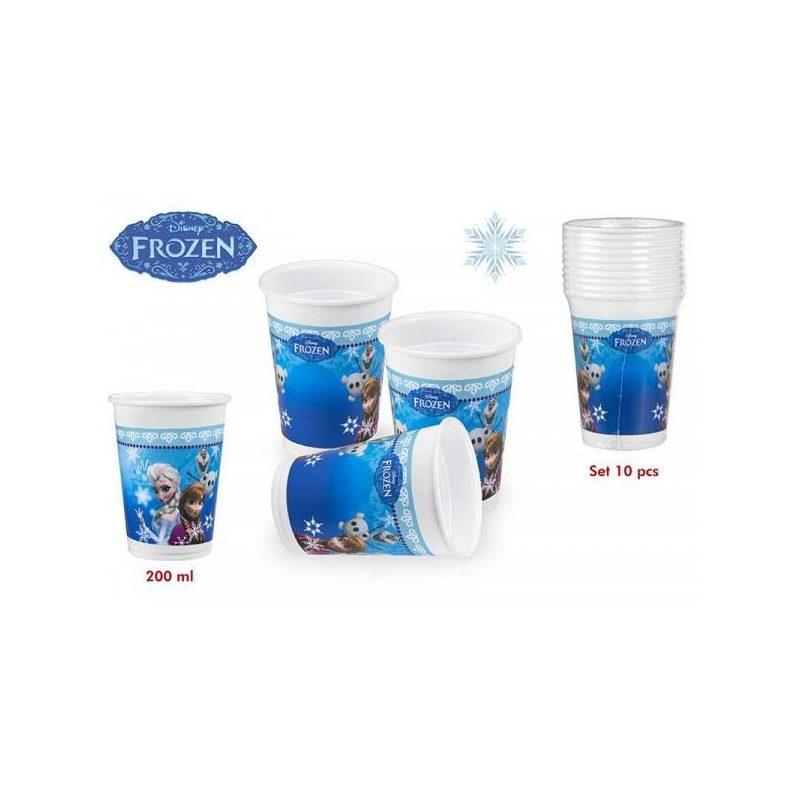 Pack 10 Vasos Frozen 200 ml Inicio