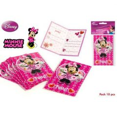 Pack 10 Invitaciones Minnie Inicio