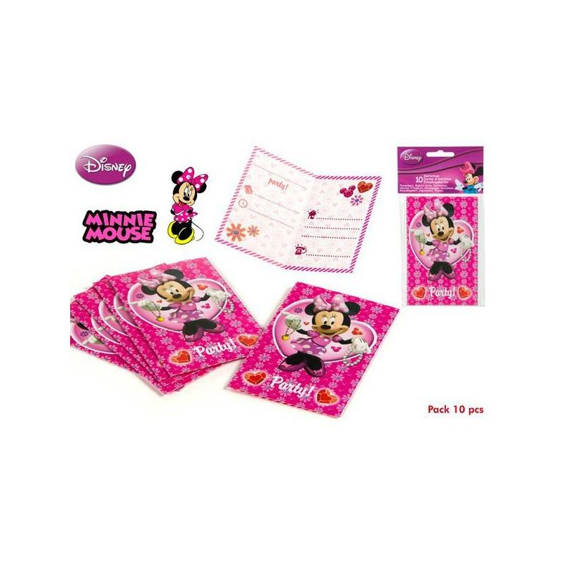 Pack 10 Invitaciones Minnie Inicio