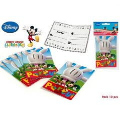 Pack 10 Invitaciones Mickey Mouse Inicio