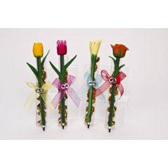 Bolígrafo Flores en Caja Decorada