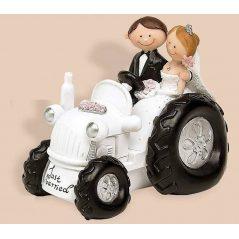 Figura Pareja Novios tractor