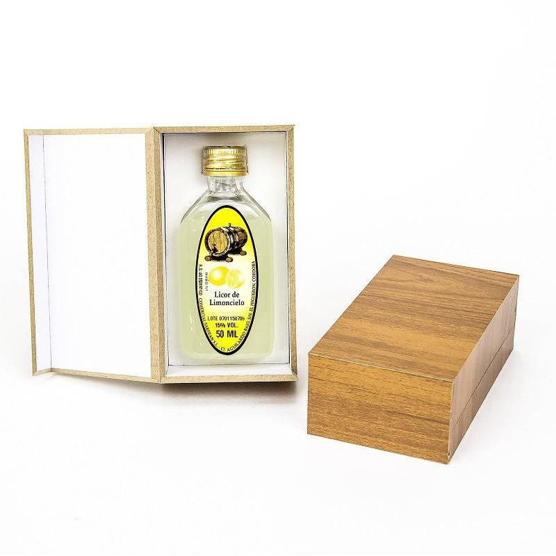 Licor Finas Hierbas 50 ml En Caja De Madera Inicio