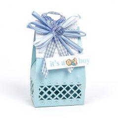 Caja Cartón Azul Con Chupete