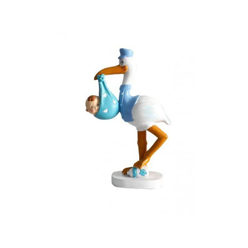 Figura Pastel Cigueña Nido Figuras para Tartas de Bautizo
