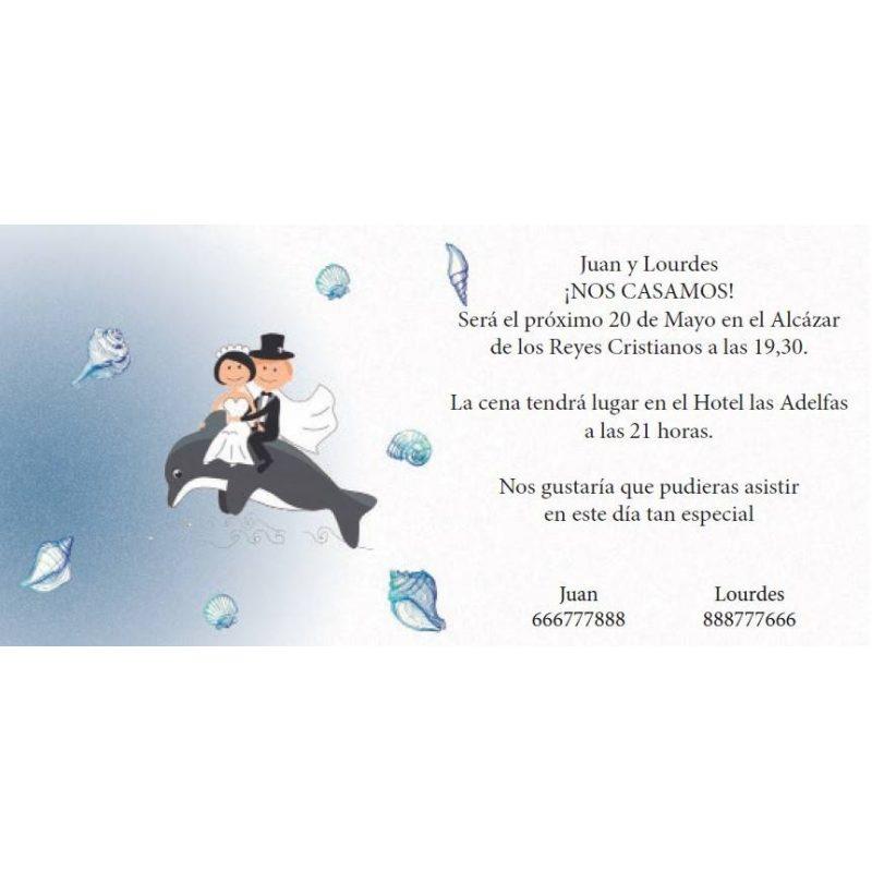 INVITACION NOVIOS DELFIN Inicio0,62 €