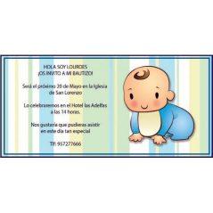 INVITACION BAUTIZO BEBÉ GATEANDO Inicio
