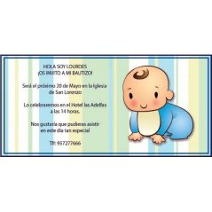 INVITACION BAUTIZO BEBÉ GATEANDO
