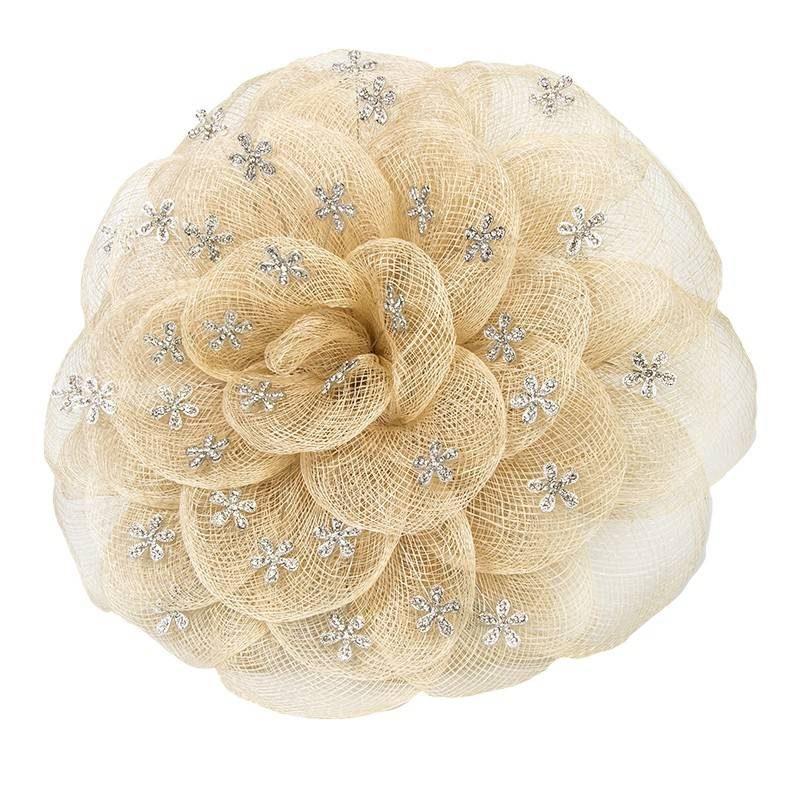 Rosa tradicional Sinamay Beige Inicio
