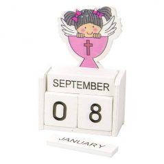 Calendario Madera Niña Comunión