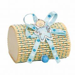 Caja Bambú Niño Azul Inicio