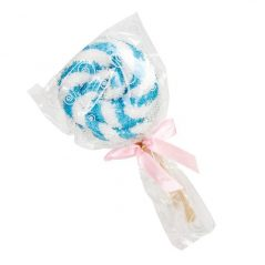 Piruleta Toalla Azul Con Lazo