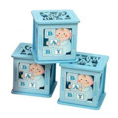 Caja Madera Azul Niño Y Letras Inicio0,90 €