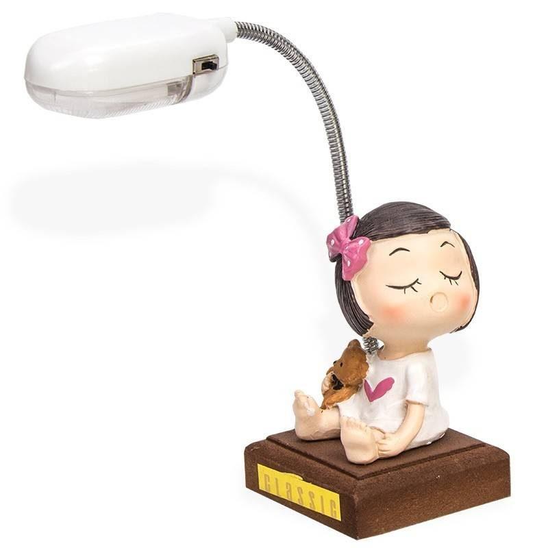 Lámpara Niña Resina Inicio