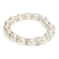 Pulsera Bisutería Perlas Blancas
