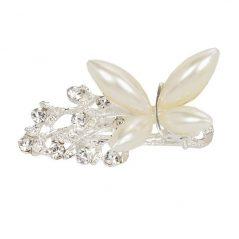 Broche Mariposa Perlas Blancas
