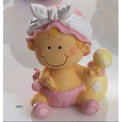 Hucha Bebé Niña Pañal Rosa