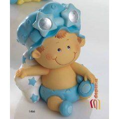 Hucha Bebé Niño Pañal Celeste Figuras para Tartas de Bautizo