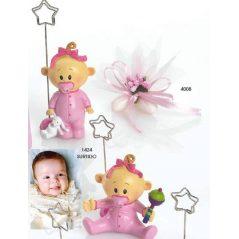 Portafotos Bebé Niña Chupete Rosa Portafotos de Bautizo Baratos2,02 €
