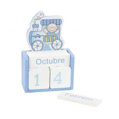 Calendario Madera Bebé Azul Inicio