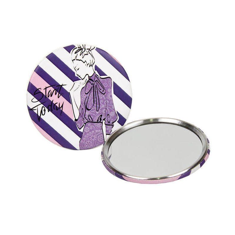 Espejo Mujer Rayas Lilas Detalles de Boda para Mujeres 0,27 €