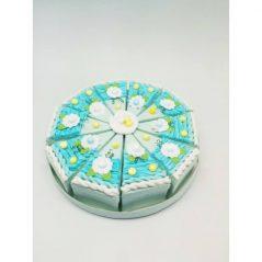 Set 10 Cajas Porción Pastelito Azul Presentaciones para Bautizo