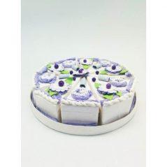 Set 10 Cajas Porción Pastelito Lila