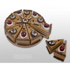 Set 10 Cajas Porción Pastelito Chocolate