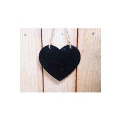 Pizarra Corazón Madera
