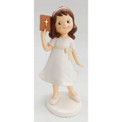 Figura Pastel Niña Biblia