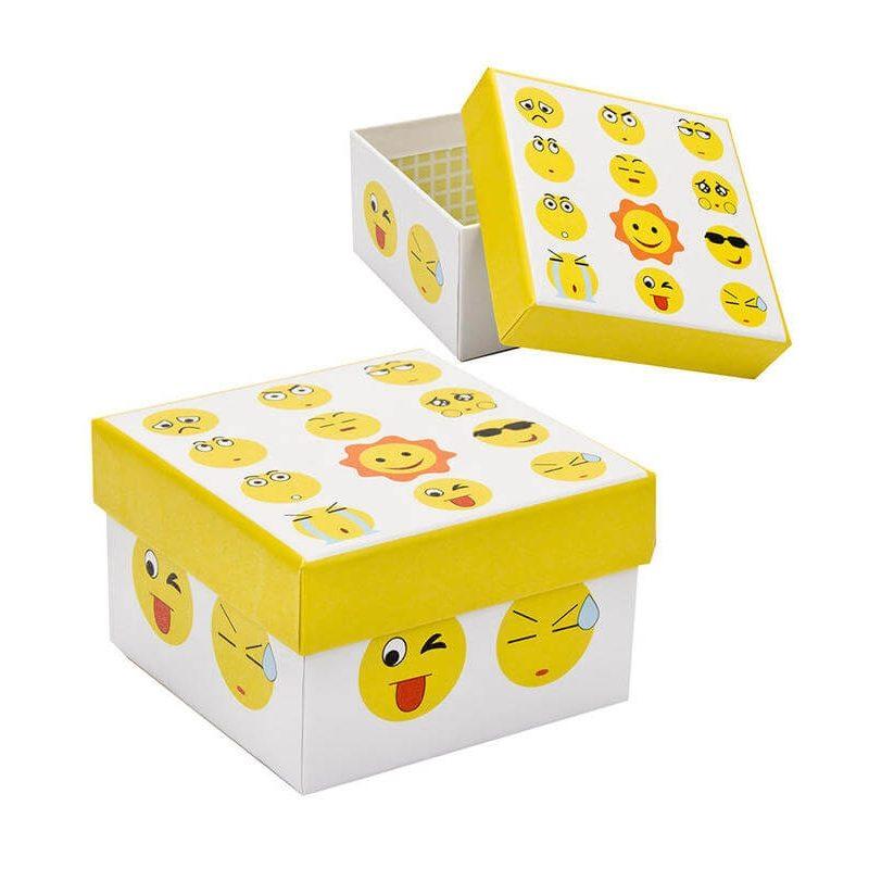 Caja Emoticonos Cuadrada Recuerdos de Comunión 25116