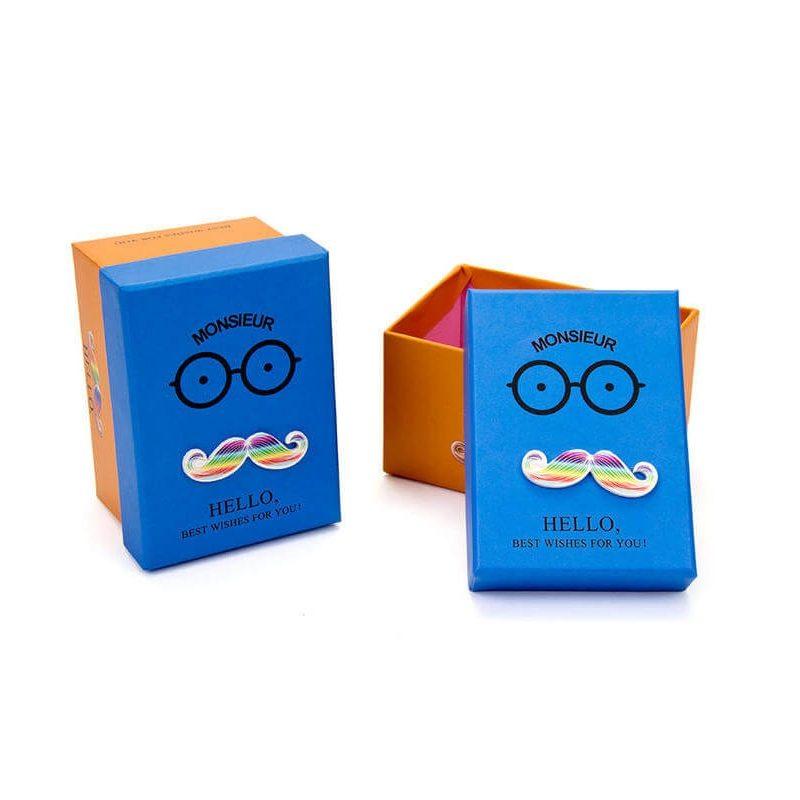 Caja Azul Mostacho Detalles de Comunión0,95 €
