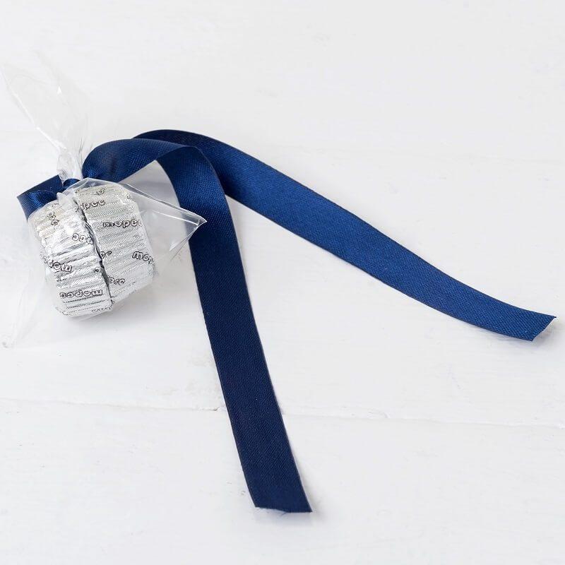 Adorno Bombones Lazo Azul Marino Decoraciones de Comunión