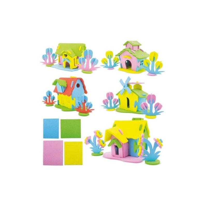 Casa Puzzle Goma Eva Detalles para Niños