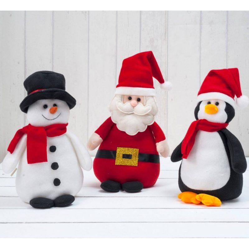 Lote 3 Figuras Decorativa Navidad Detalles para Navidad