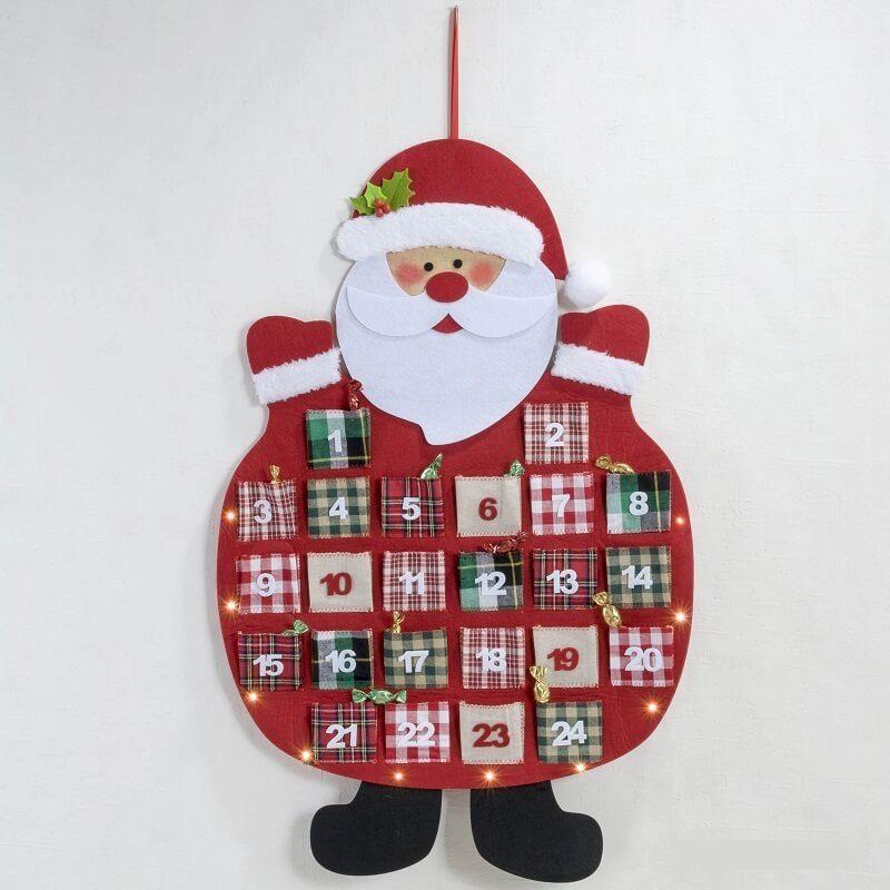 Calendario Adviento Noel con Led Detalles para Navidad NAD260